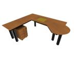 现代办公桌3D模型下载