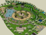 公园景观.skp模型