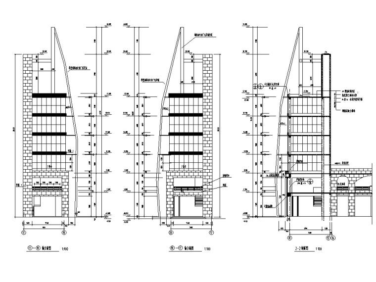 5套商业综合建筑设计方案初设图CAD