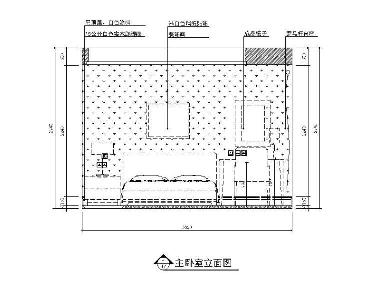 【江苏】地中海风格样板房设计CAD施工图(含效果图)_3