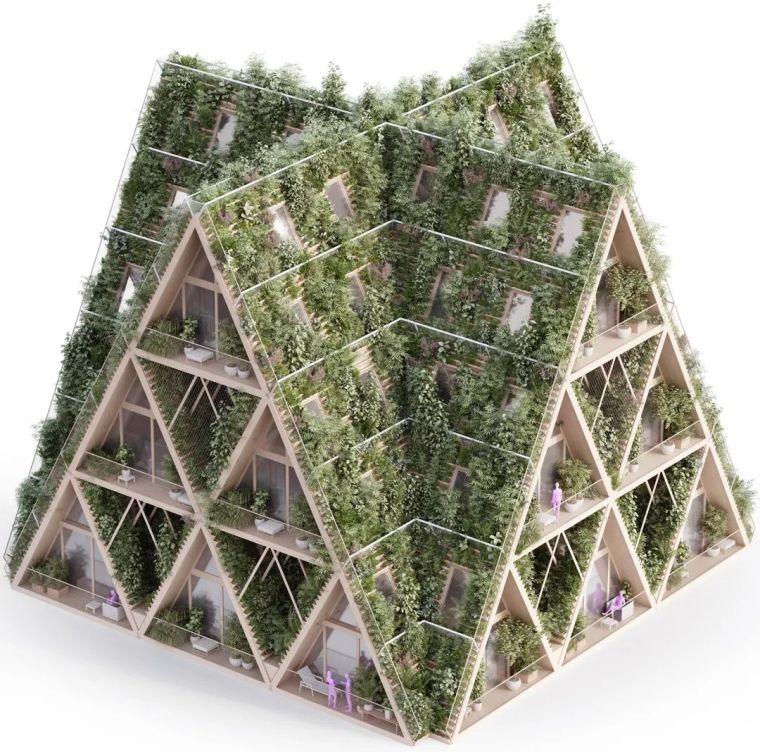 拥有独立生态系统的大楼-城市中的垂直农场_18