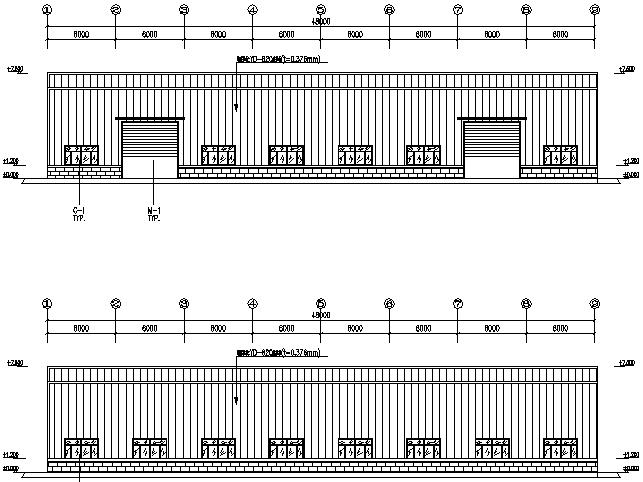 22X48m门式刚架厂房钢结构工程施工图(CAD,10张)