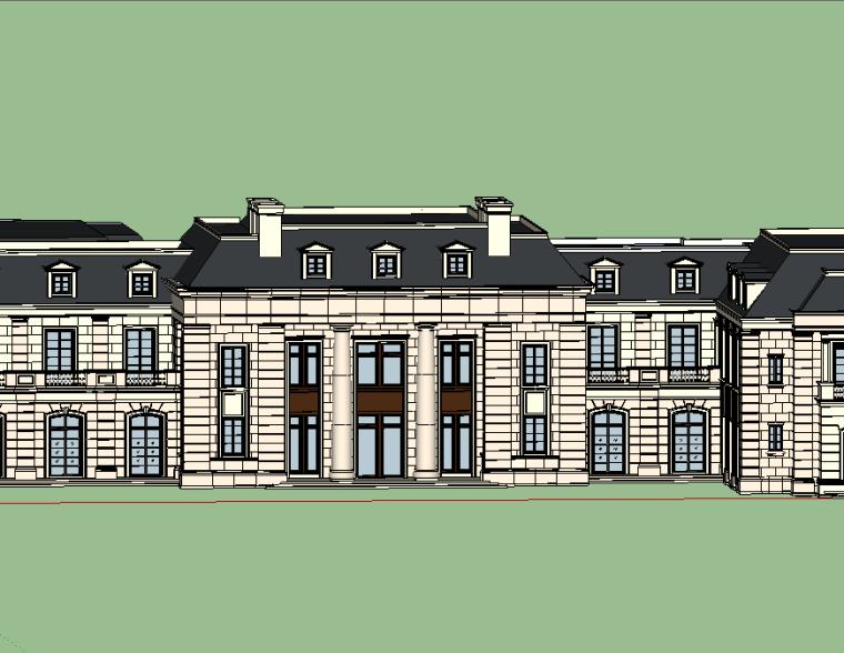 新古典会所建筑模型设计-场景一