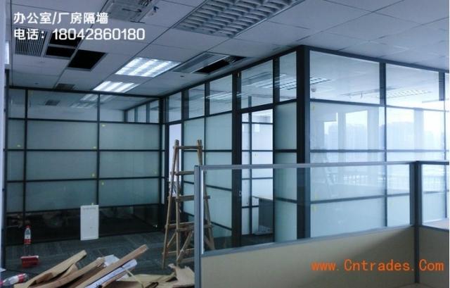 东城区安装玻璃隔断屏风朝阳门玻璃隔断