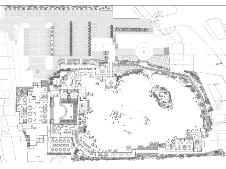 10套高级别墅区景观方案CAD平面图