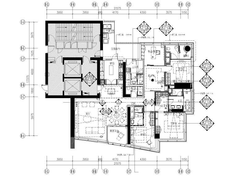 [广东]李玮珉-珠江新城五居室样板间全套施工图+高清官方摄影+考察实景
