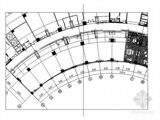 [贵州]某国际大酒店总统房平面图