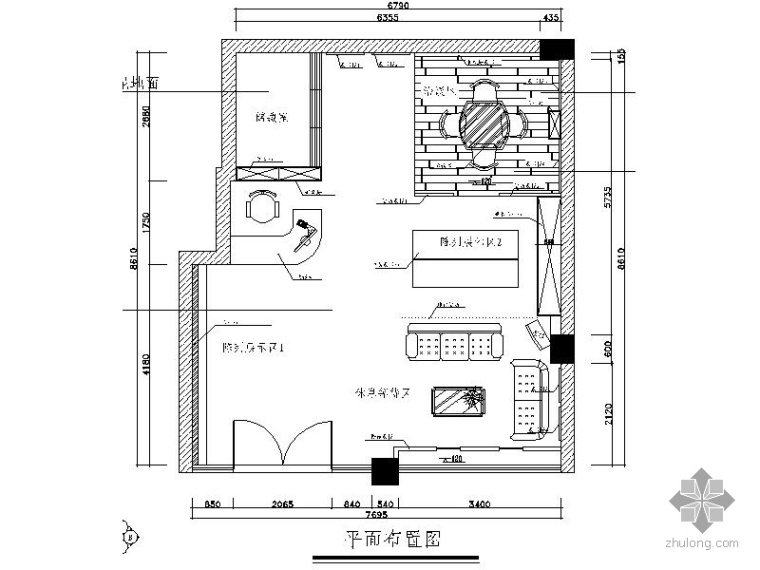 [湖南]某墙纸店面装修图(含效果)