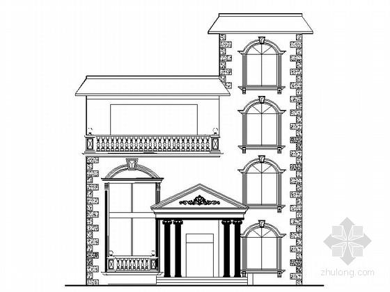 [新农村]欧式风格三层砖混结构私人别墅设计施工图(含效果图)