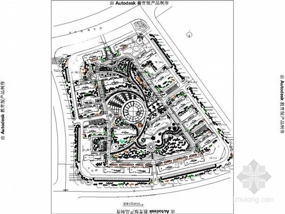 滨河小区园林景观绿化施工图