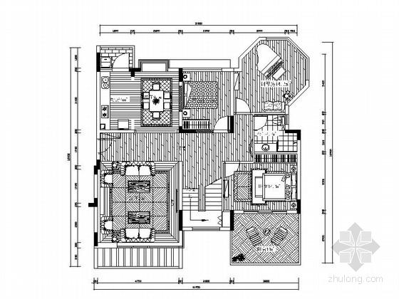 [深圳]三层别墅欧式风格样板房装修图(含效果图)