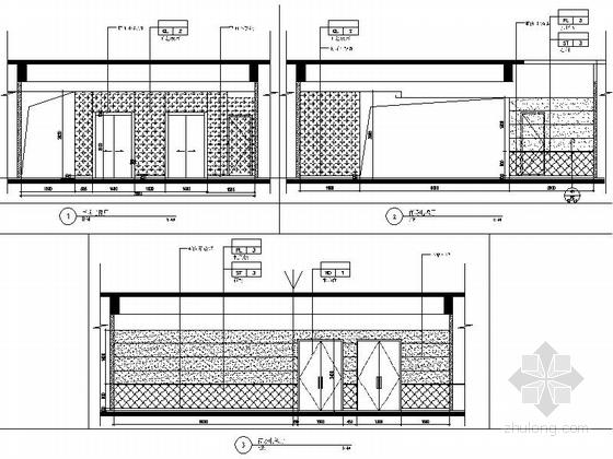 [苏州]工业园林区复合型商业综合体社区中心装修施工图(含效果)商场立面图