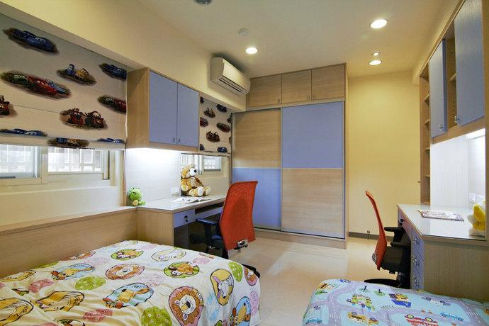 115平方米现代简约儿童房背景墙装修效果图_17