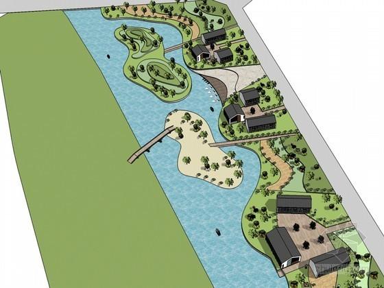 滨湖公园SketchUp模型下载