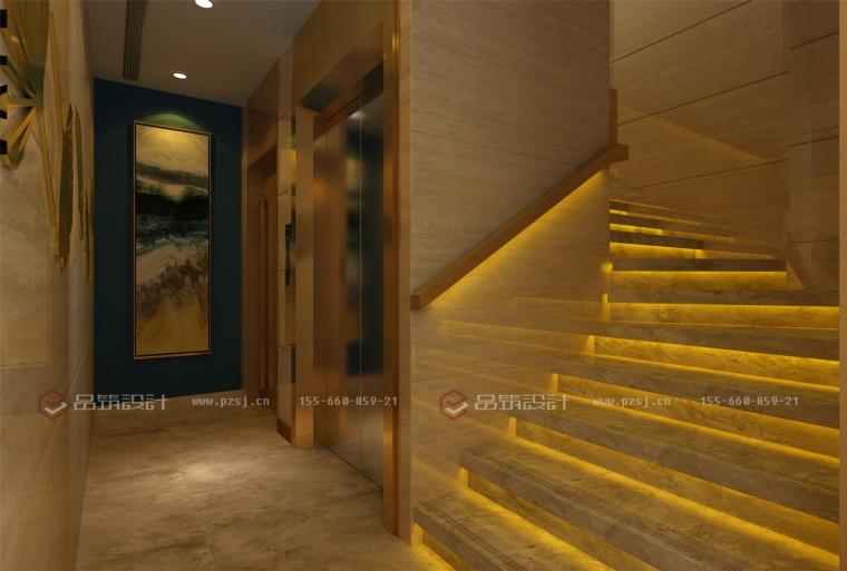 这样的沈阳私人办公会所设计效果图真是美呆了!-6楼梯间.jpg