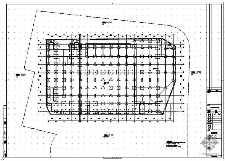 某體育中心及圖書館改造項目基坑圍護SMW方案圖紙