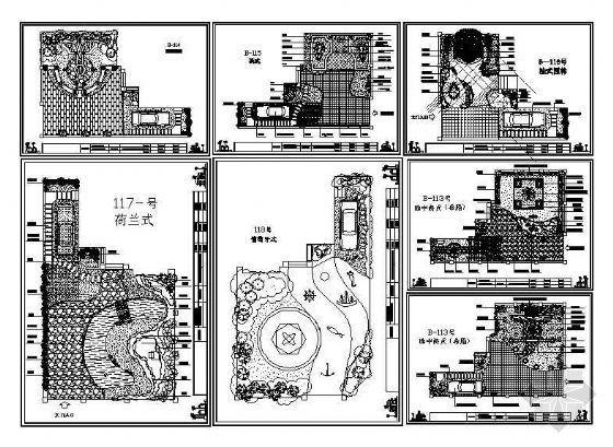 六个别墅花园设计方案