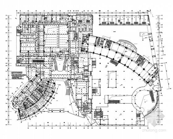 [广东]202米豪华五星级酒店建筑给排水消防施工图(裙房、塔楼)