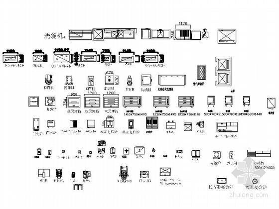 全套厨房设备CAD图块下载