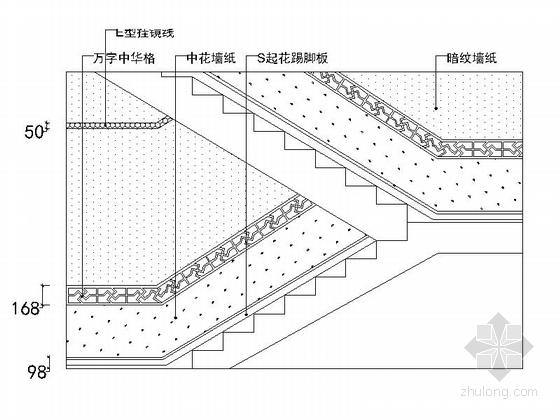 [原创]复古新中式复式三居室内设计CAD施工图-[原创]复古新中式复式3居室内设计立面图