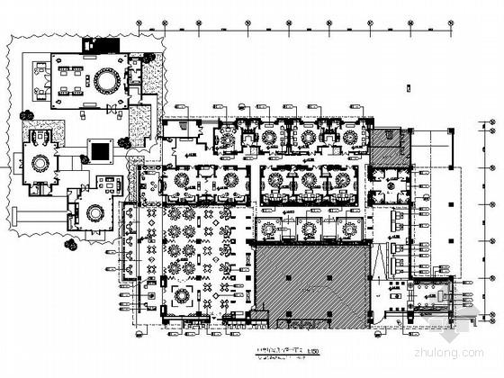 [云南]精品高级现代风格商务酒店中餐厅室内装修施工图(含效果)