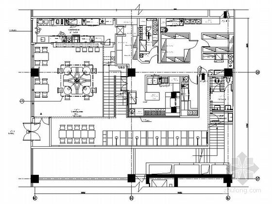 [太原]炫酷时尚全国连锁披萨餐饮空间竣工图(含效果图)