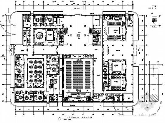 [浙江]市行政管理服务平台现代会议中心装修施工图(含全套方案)