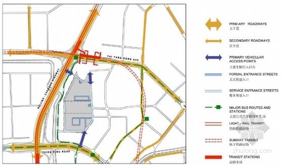 130米超高层城市综合体设计分析图