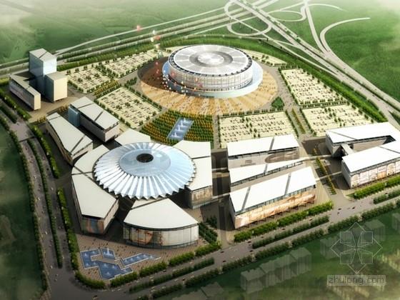 [东莞]某体育馆建筑设计方案文本(含CAD、模型)