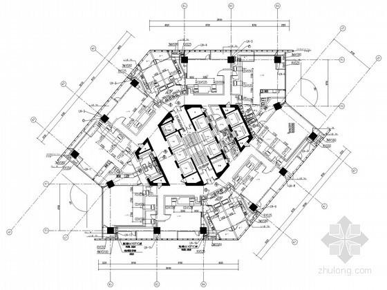 [江苏]商业广场空调通风设计全套施工图(含负荷计算书)