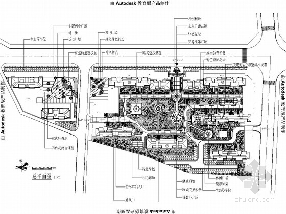 [浙江]都市春天居住区园林景观设计施工图