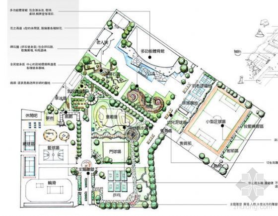[大赛作品]某综合活动广场设计方案