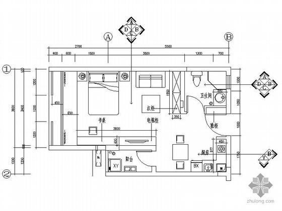 [深圳]某小户型两种方案设计图(含效果)