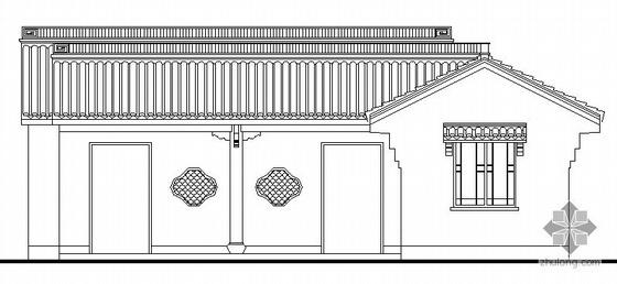某仿古厕所建筑方案图