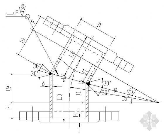 各角度钢制弯头制作详图