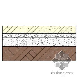 混凝土地面-彩色混凝土面层(有防水层) 142mm