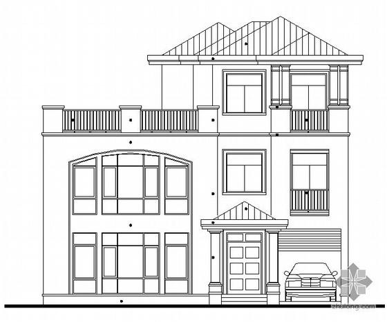 [东莞市]某豪园三期别墅区(A4型别墅)建筑结构水电施工图(含节能