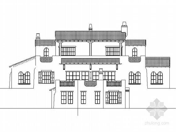 [重庆]某二层西班牙式双拼别墅建筑施工图(含建筑节能模型)