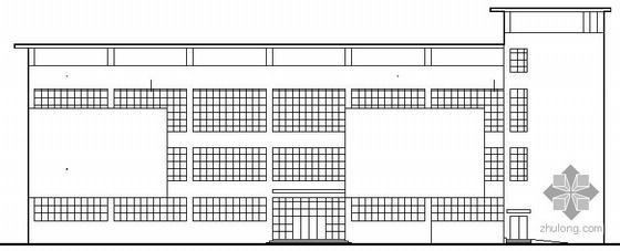 某职业技术学校三层食堂建筑施工图