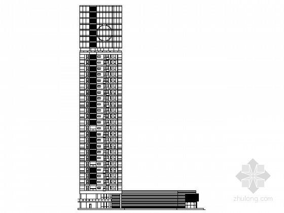 [上海]某三十二层沿街商住楼建筑方案图(11号楼)