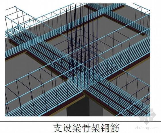 框架梁施工工艺流程(三维效果图)