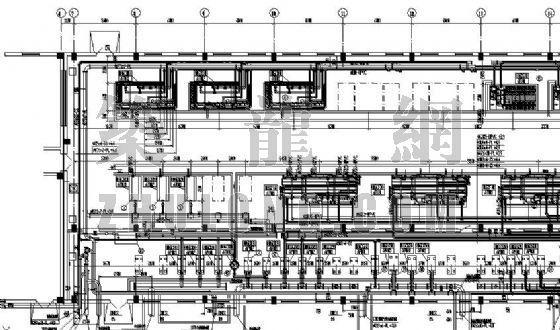 内蒙古某电厂化水车间管道设备布置图