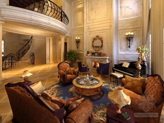 豪华别墅室内效果图3D模型