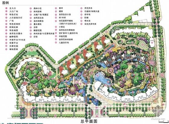 [手绘]深圳某小区景观设计总平面图