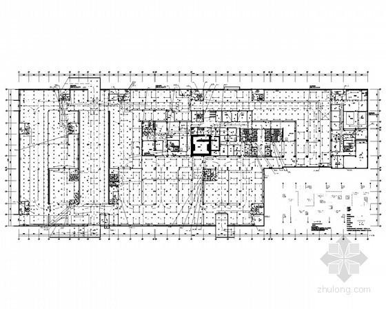 十六层医疗综合楼火灾自动报警平面图