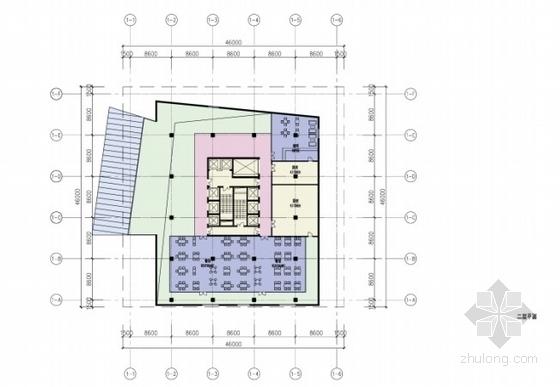 高层办公楼平面图