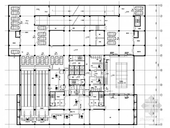 小高层办公楼空调通风系统设计施工图(KX空调系统)