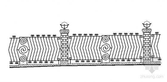 小区道路栏杆施工图