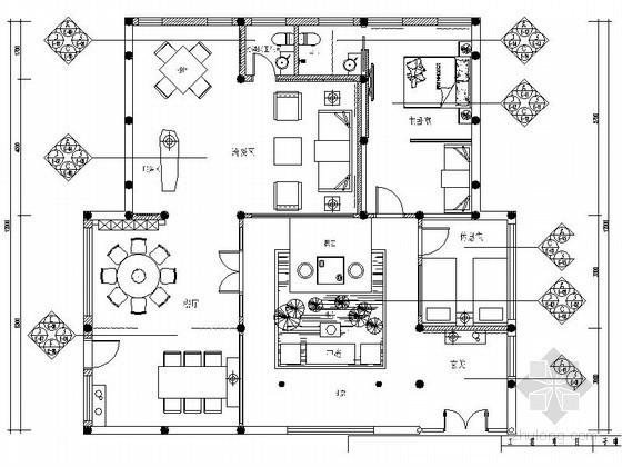[四川]古建筑群落重建项目中式茶楼室内装修图