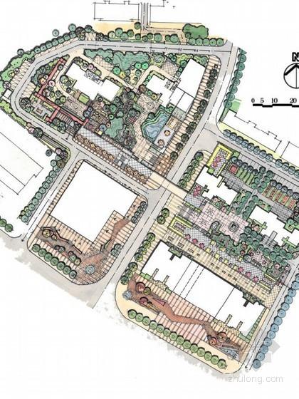 [武汉]新中式居住区景观概念设计方案